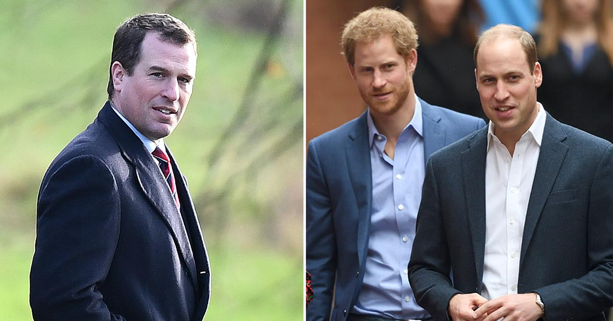 who is peter phillips walk in between prince harry prince william