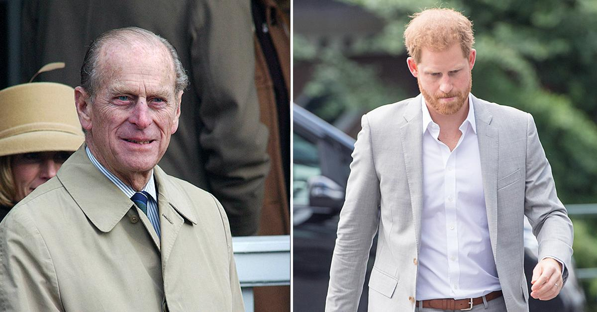 prince philip thought extremely fondly prince harry close relationship