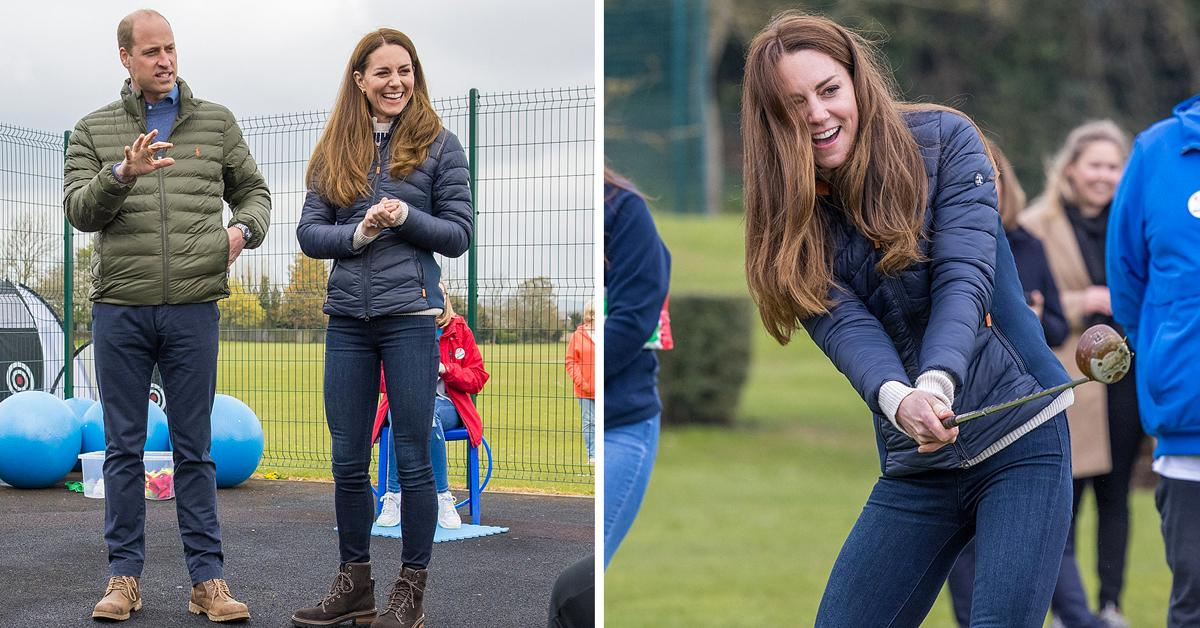 prince william and duchess catherine meet people at charity event
