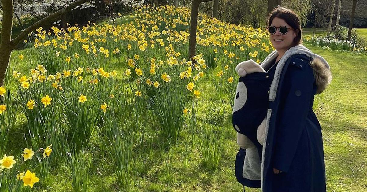 princess eugenie enjoys nature with son august