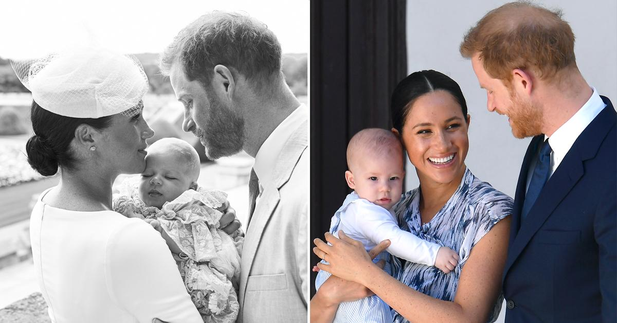 archie turns  see the cutest photos of prince harry and meghan markles son