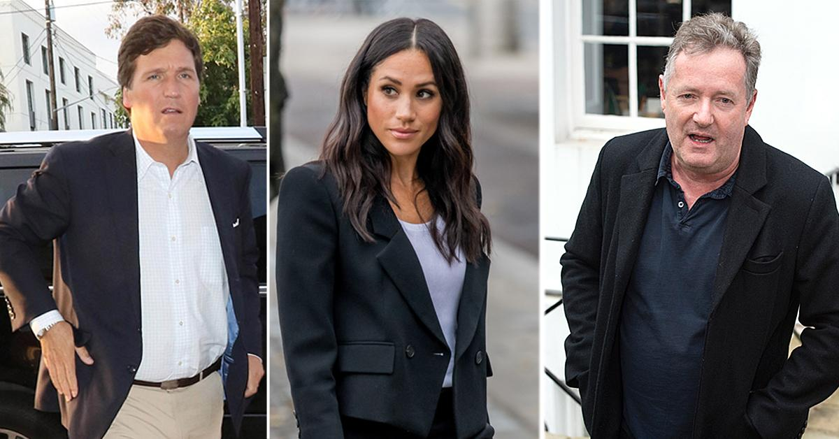 tucker carlson interview piers morgan controversial meghan markle remarks