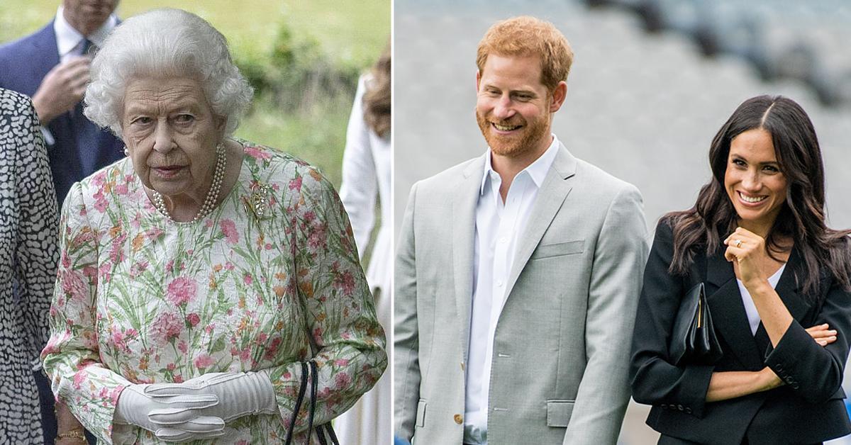 queen elizabeth wears special brooch g summit nod to prince harry meghan markle
