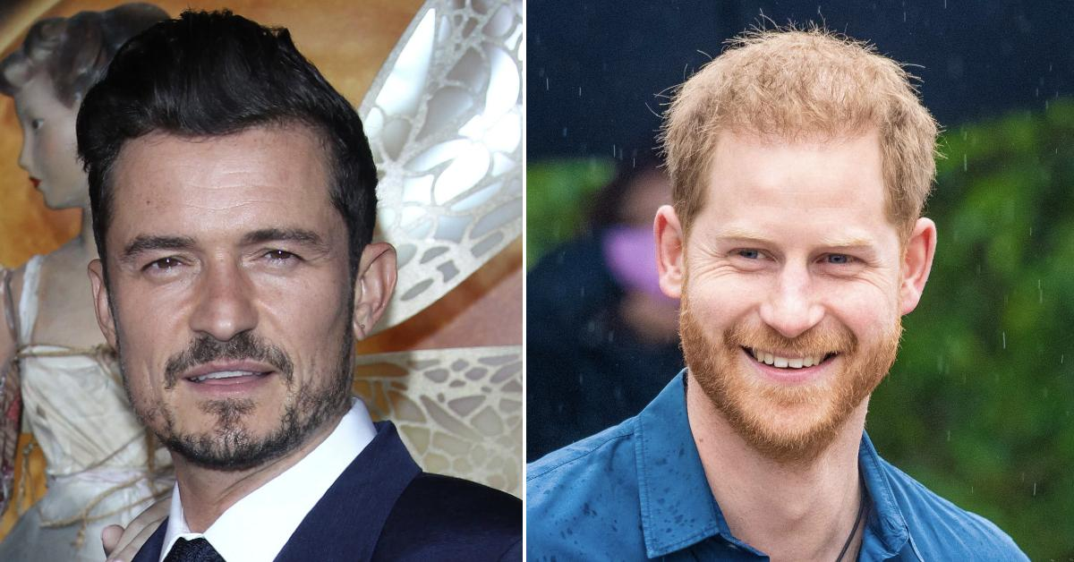 prince harry keeps contact orlando bloom pp