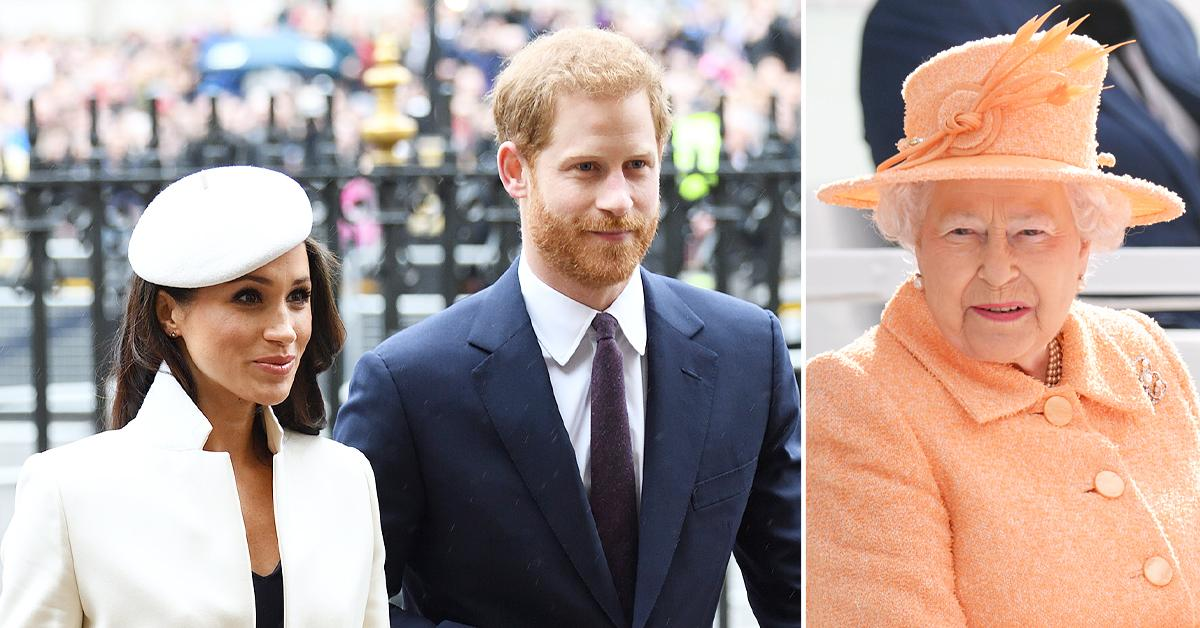prince harry meghan markle trying to maintain good relationship with queen tro