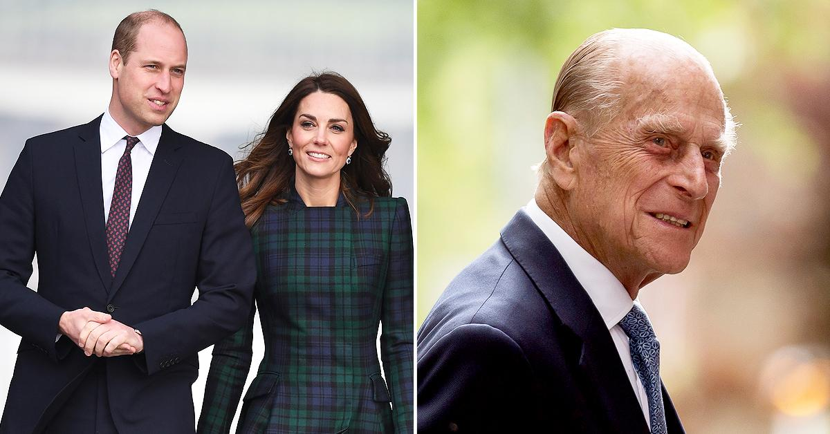 prince william kate middleton pay tribute prince philip after funeral