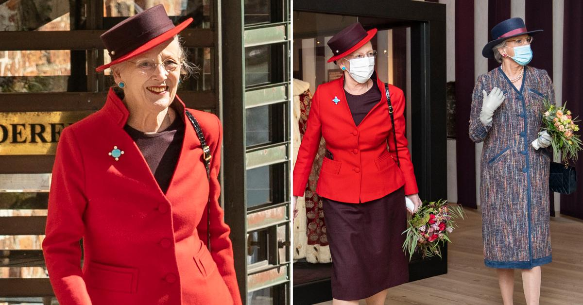 queen margrethe of denmark and princess benedikte of denmark are present at the opening of the exhibition