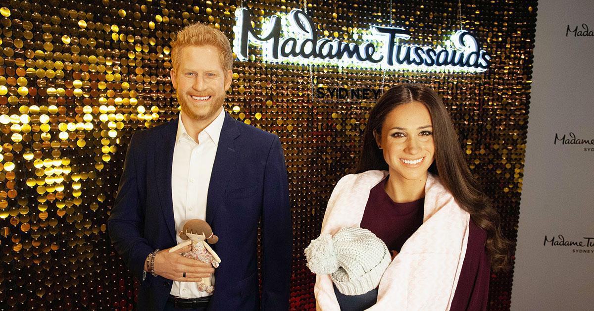 prince harry and meghan markle wax figures madame tussauds sydney tro