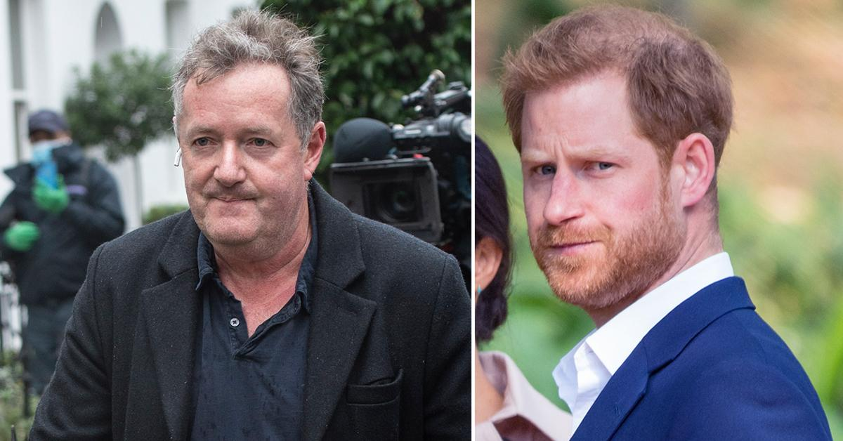 piers morgan calls prince harry spineless whiny cry baby blames family