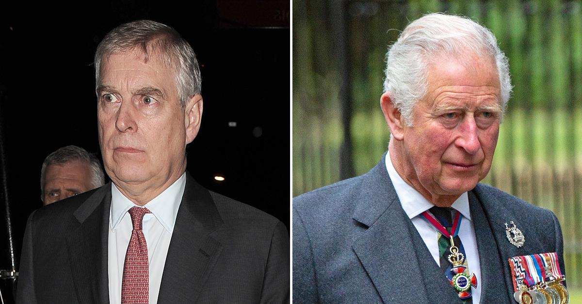 prince andrew not allowed to dine with prince charles at lavish banquet
