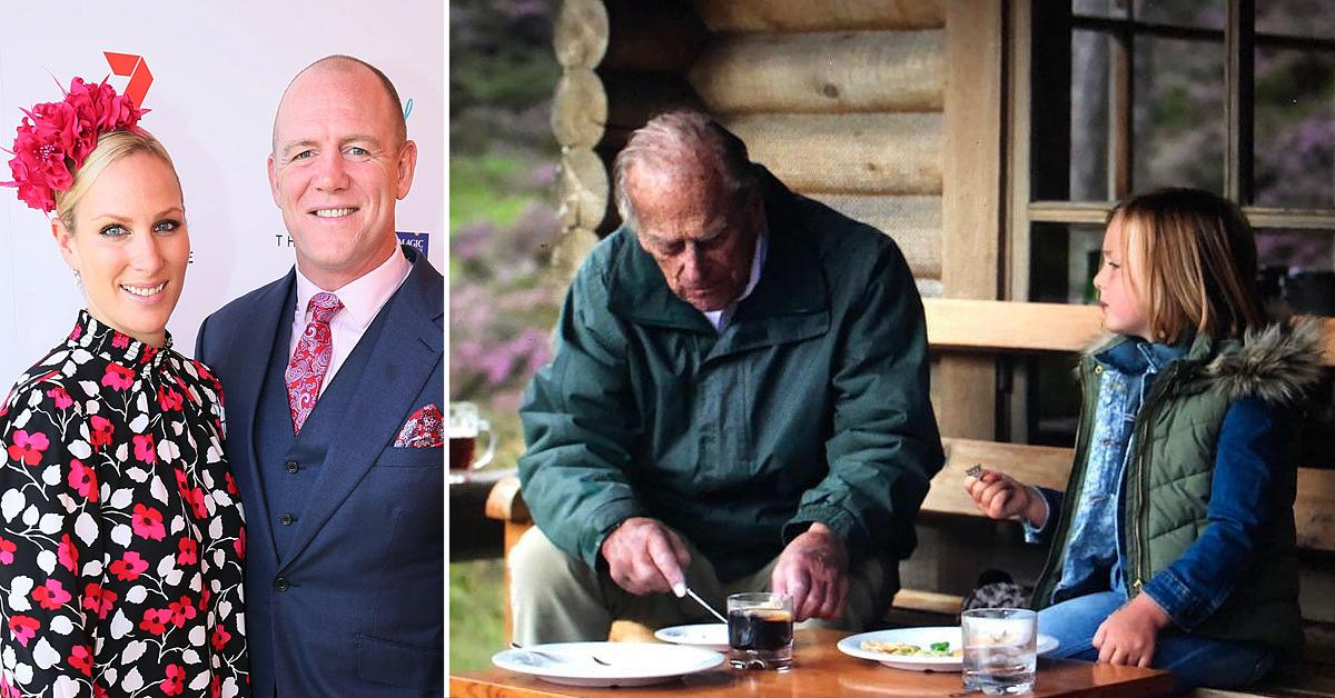 zara tindall husband mike shares photo daughter mia prince philip