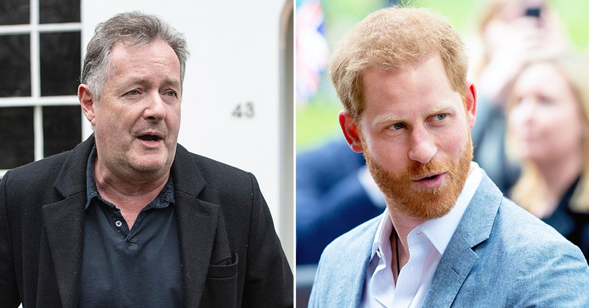 piers morgan calls prince harry spoiled brat after he compared royal life to living zoo