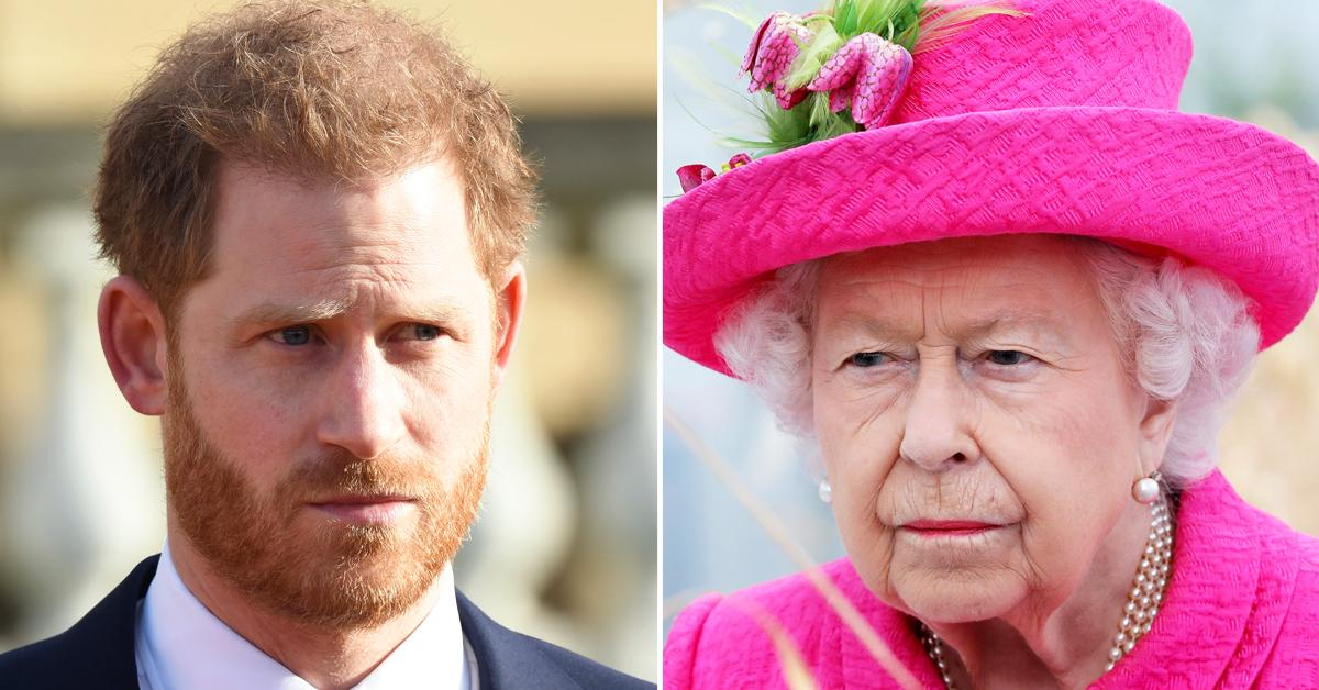 prince harry queen elizabeth ii spoke privately at least twice during uk visit