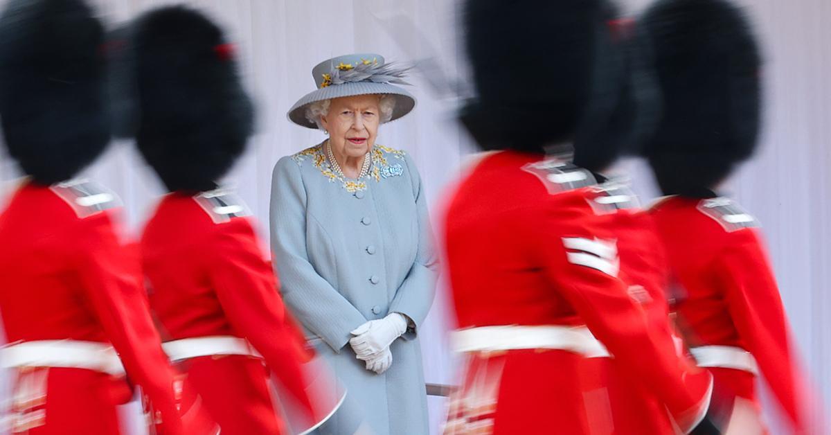 queen elizabeth attends trooping the colour alongside cousin duke of kent