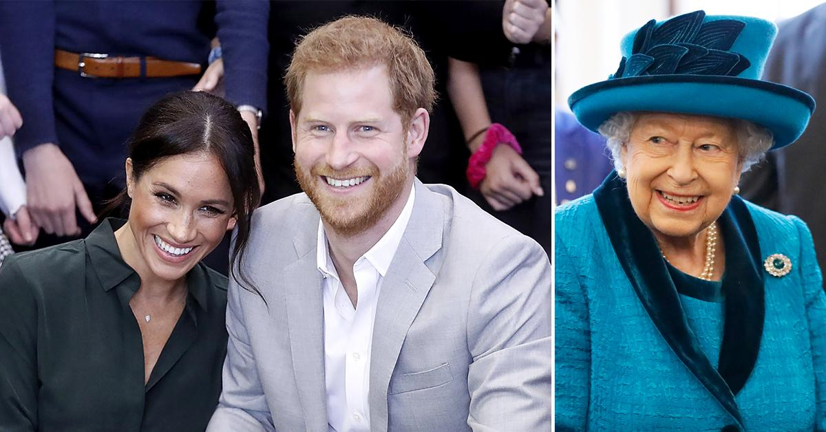 meghan markle prince harry very excited for queen meet daughter via video chat tro