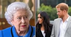 queen elizabeth tv appearance same day meghan markle prince harry interview tro