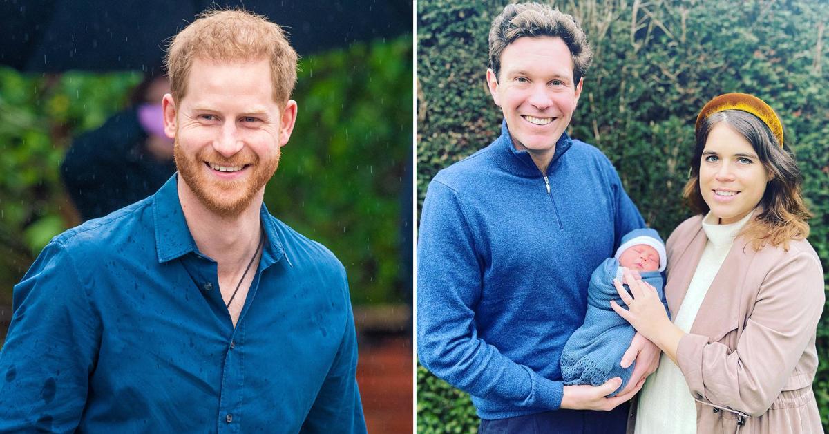 prince harry met princess eugenie son august in uk