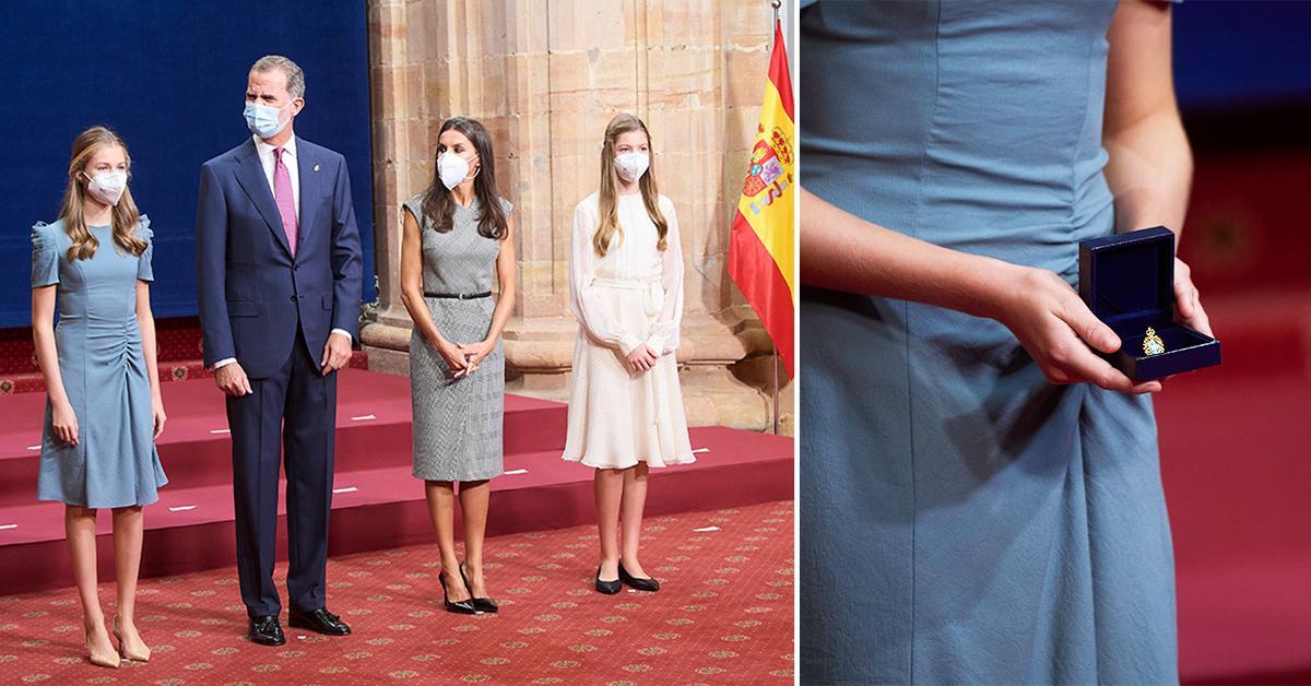 spanish royals attend audience with princess of asturias awards winners pp