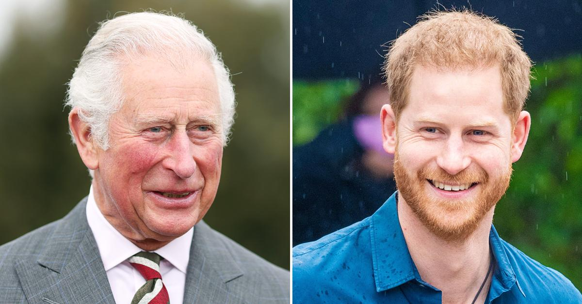 prince charles prince harry regular contact after birth lilibet tro