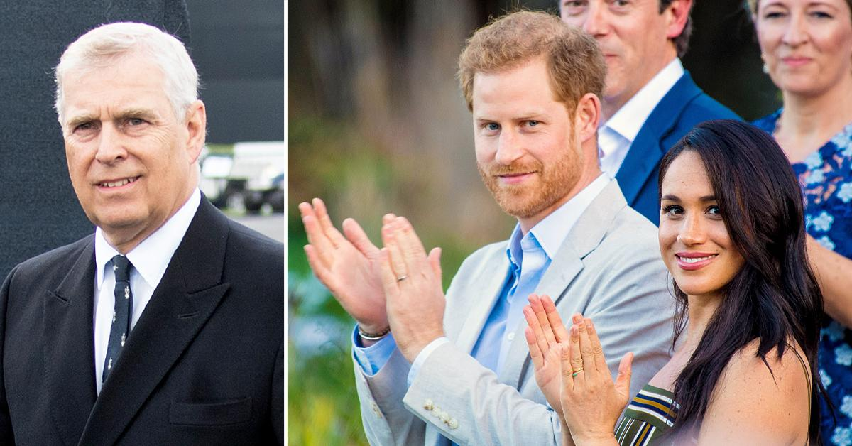 disgraced prince andrew likely loving that media fixated on prince harry meghan markle tro