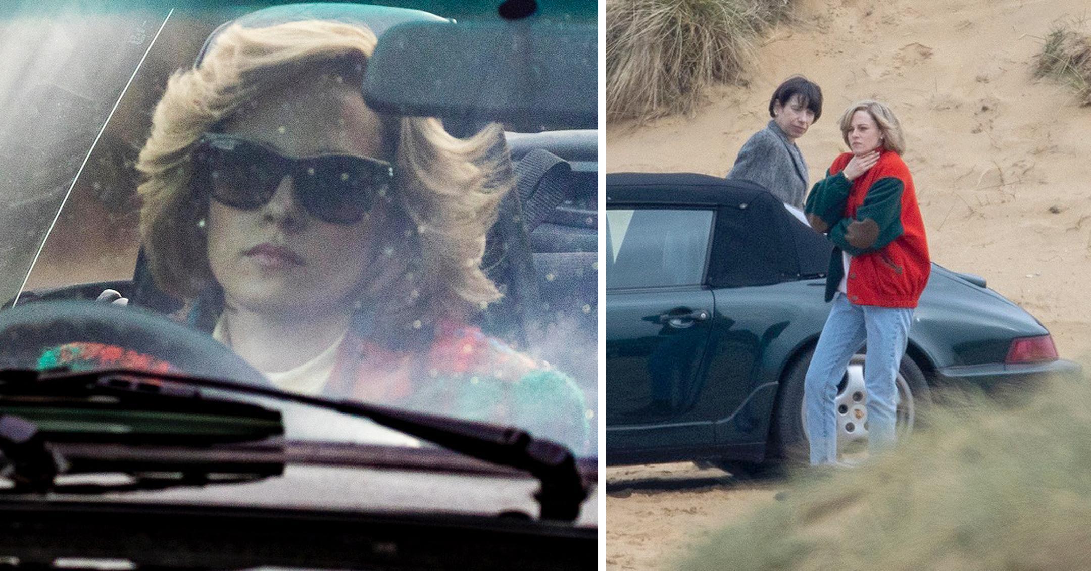 kristen stewart as princess diana on set of new movie