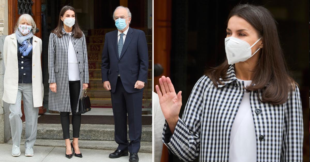 queen letizia spain meeting fundacion del espanol urgente fundeurae tro