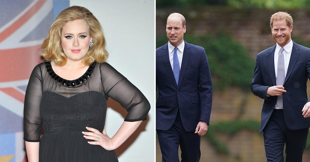 adele forced pick between prince harry prince william pp