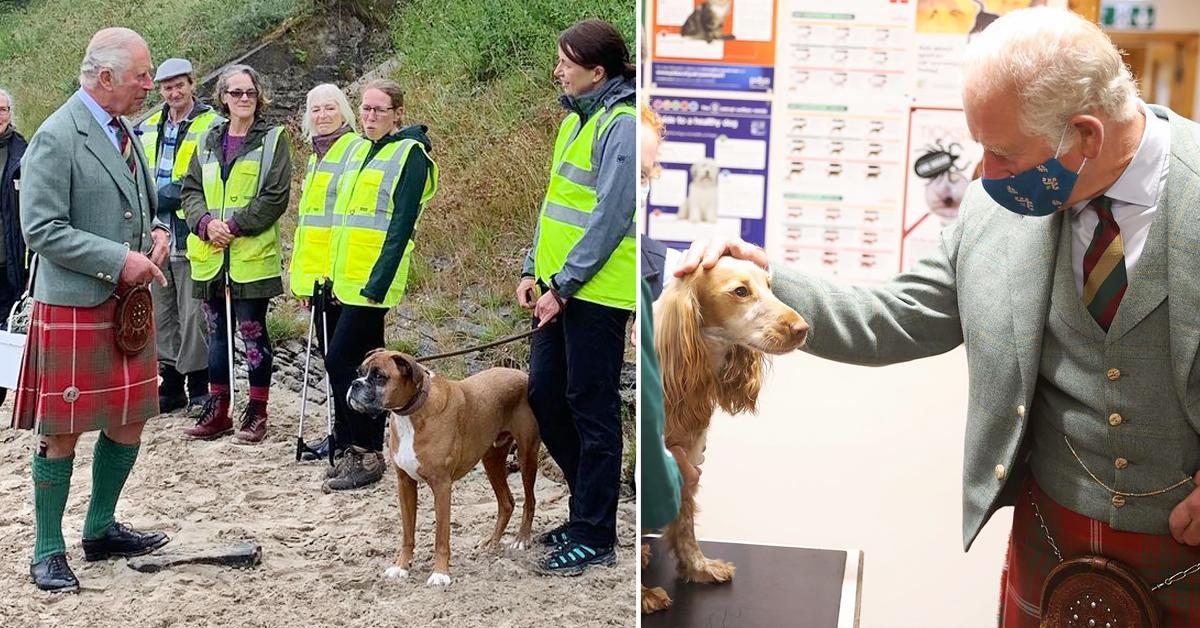 prince charles visits scotland to meet members local community wears kilt tro