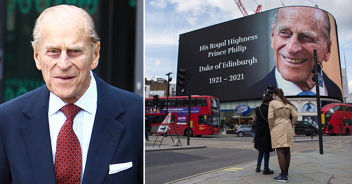 tribute to prince philip at piccadilly london uk